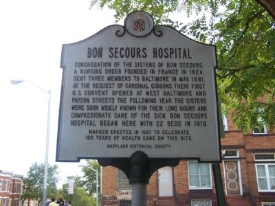 Bon Secours Hospital Marker image. Click for full size.