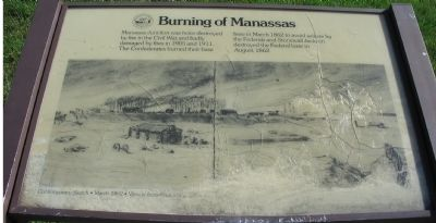 Burning of Manassas Marker image. Click for full size.