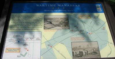 Wartime Manassas - Walking and Driving Tours Marker image. Click for full size.