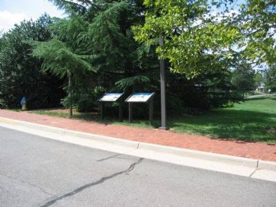 Two Civil War Trails Markers at the Entrance to the Museum image. Click for full size.