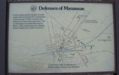 Defenses of Manassas Marker image. Click for full size.