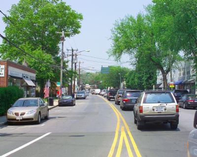 Downtown Old Greenwich as seen on Sound Beach Avenue facing north toward train station image. Click for full size.