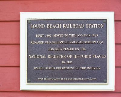 Sound Beach Railroad Station Marker image. Click for full size.
