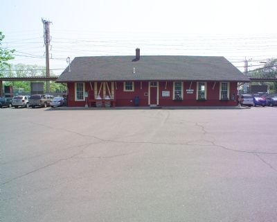Other side of station and parking lot image. Click for full size.