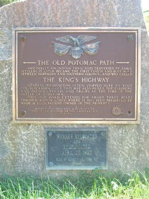 The Old Potomac Path Marker image. Click for full size.