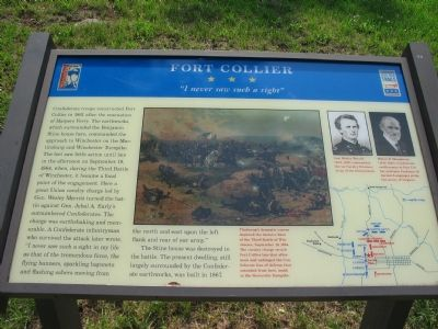 Fort Collier Marker image. Click for full size.