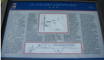 Lt. Collier's Earthworks Marker image. Click for full size.