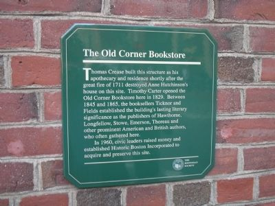 The Old Corner Bookstore Marker image. Click for full size.