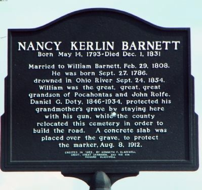 Nancy Kerlin Barnett Marker image. Click for full size.