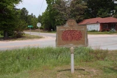 Old Sunbury Road Marker, along Ga 23, HWY 121 at and Walter Collins Rd. image. Click for full size.
