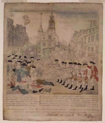 Paul Revere's Engraving of the Boston Massacre image. Click for full size.