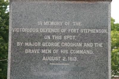 Fort Stephenson Monument image. Click for full size.