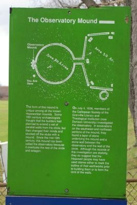 The Observatory Mound Marker image. Click for full size.