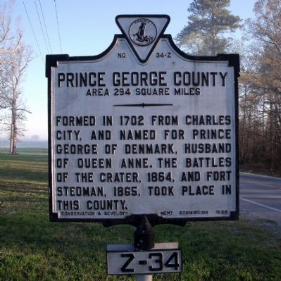 Prince George County Marker image. Click for full size.