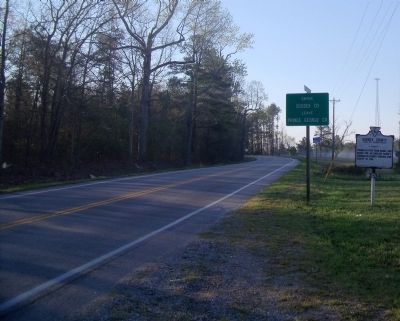 Prince George County / Sussex County Marker on Courtland Road (facing east). image. Click for full size.