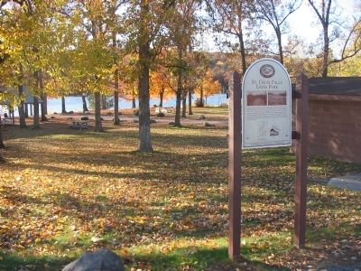 St. Croix Falls Lions Park and Marker image. Click for full size.