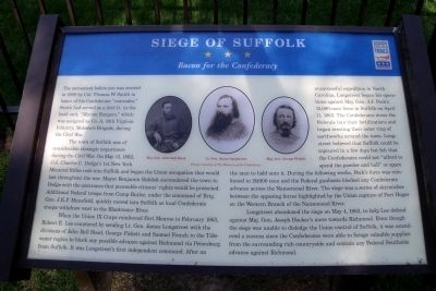 Siege of Suffolk CWT Marker image. Click for full size.
