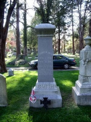 Nearby grave of Col. Thomas W. Smith image. Click for full size.