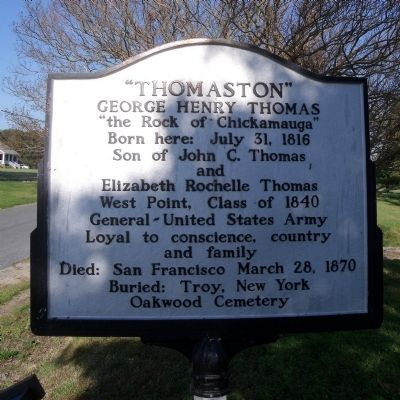 """Thomaston"" Marker image. Click for full size."