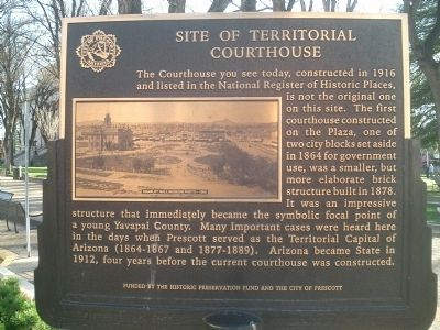 Site of Territorial Courthouse Marker image. Click for full size.
