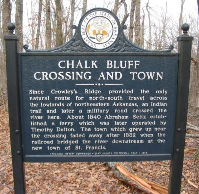 Chalk Bluff Crossing and Town Marker image. Click for full size.