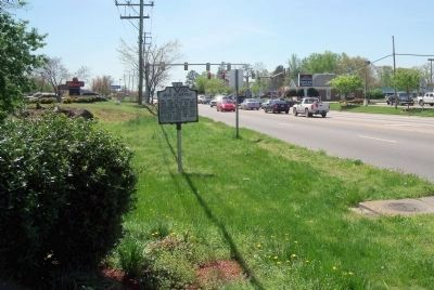 Siege of Suffolk Marker on North Main Street (facing south). image. Click for full size.