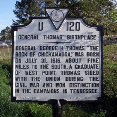 General Thomas' Birthplace Marker image. Click for full size.