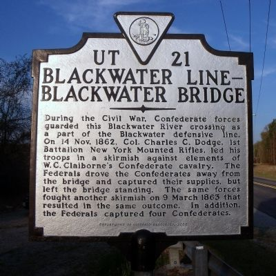Blackwater Line - Blackwater Bridge Marker image. Click for full size.