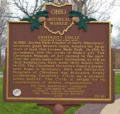 University Circle Marker image. Click for full size.