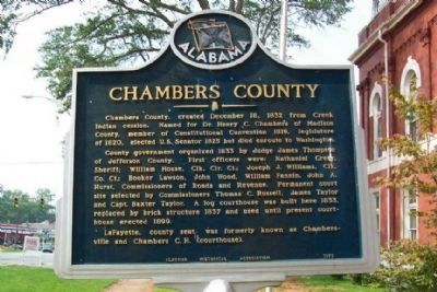 Chambers County Marker image. Click for full size.