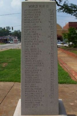 Chambers County War Memorial World War II [South Face] image. Click for full size.