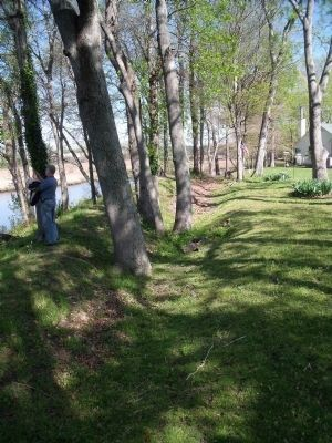 Nansemond River trenches near Battery Onondaga site (Union) image. Click for full size.