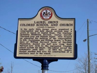 Laurel Grove Colored School and Church Marker image. Click for full size.
