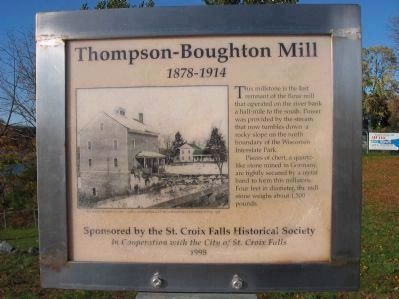 Thompson–Boughton Mill Marker image. Click for full size.