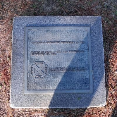 Monument relocation tablet. image. Click for full size.