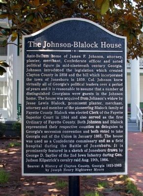The Johnson-Blalock House Marker image. Click for full size.