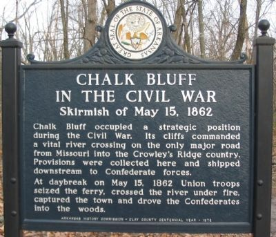 Chalk Bluff in the Civil War Marker image. Click for full size.