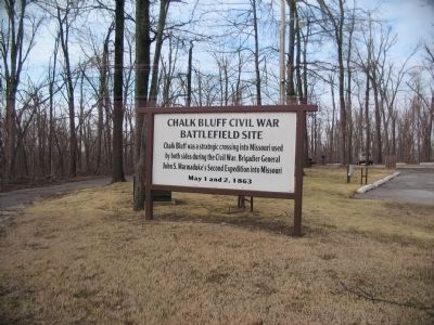 Entrance to Chalk Bluf Battlefield Park image. Click for full size.