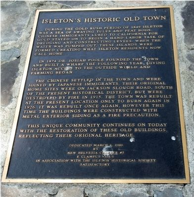 Isleton's Historic Old Town Marker image. Click for full size.