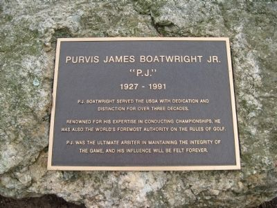 Purvis James Boatwright Jr. Marker image. Click for full size.