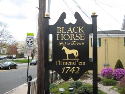 Black Horse Inn Roadside Sign image. Click for full size.