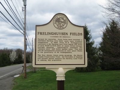 Frelinghuysen Fields Marker image. Click for full size.
