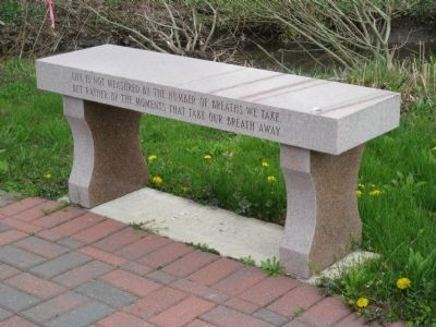 Morris Township 9-11 Memorial Bench image. Click for full size.