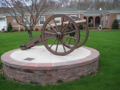Revolutionary War Cannon by Morris Township Veterans Monument image. Click for full size.