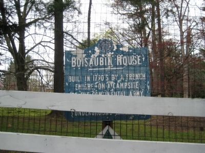 Boisaubin House Marker image. Click for full size.
