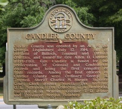 Candler County Marker image. Click for full size.