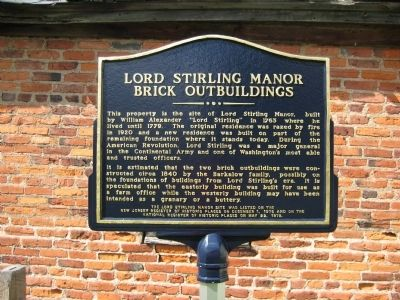 Lord Stirling Manor Marker image. Click for full size.