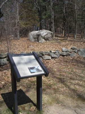 Marker along the Battle Road image. Click for full size.