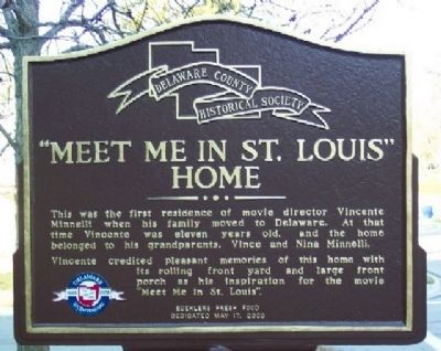"""Meet Me In St. Louis"" Home Marker image. Click for full size."