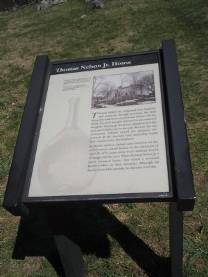 Thomas Nelson Jr. House Marker image. Click for full size.